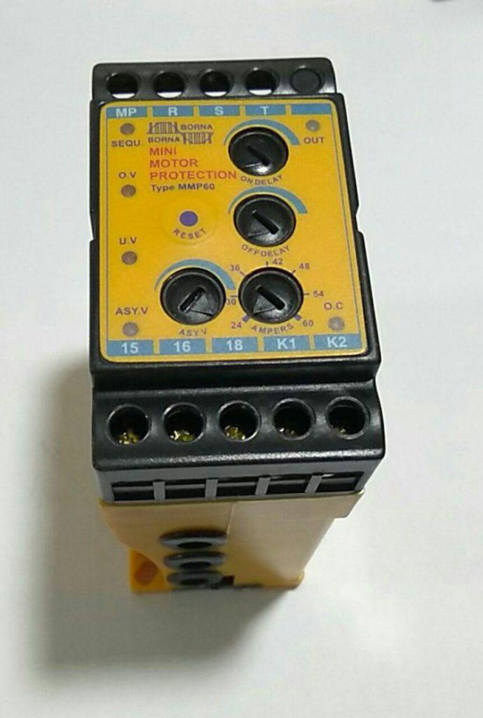 رله کنترل بار و کنترل فاز برنا الکترونیک 60 آمپری سه فاز